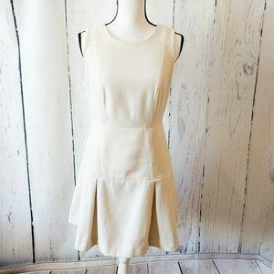 J. Crew Dresses - J. Crew Pleated White Wool Felt Wiggle Dress 10P